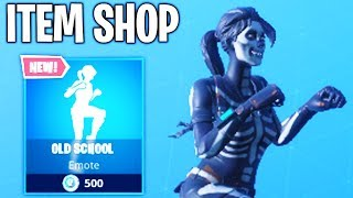 NEW OLD SCHOOL EMOTE... Fortnite ITEM SHOP Today (NEW)
