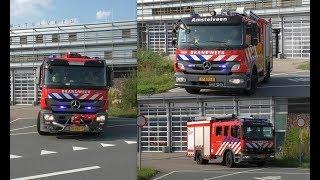 Brandweer Amstelveen rukt uit naar grote brand en brandgerucht binnen 5 minuten
