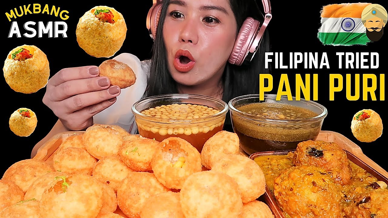 Filipina tries Pani Puri Mukbang ASMR   Indian Street Food   Kofta   Shorts