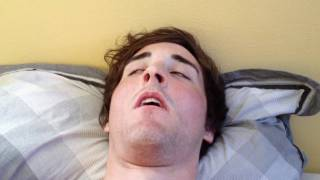 Funniest video of guy sleeping, with an epic finish to his snoring pattern