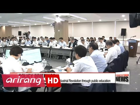 Pres. Moon briefed by culture, education ministries