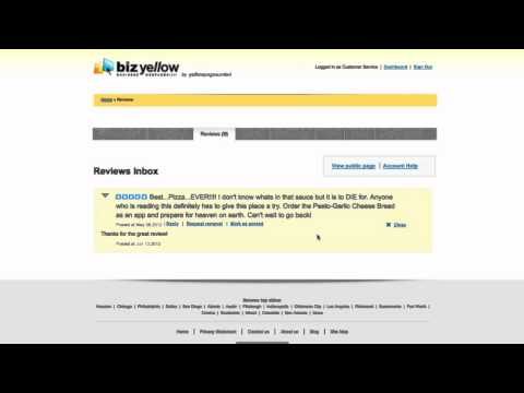Yellow Pages United - BizYellow Tutorial 4 - Reviews - YouTube
