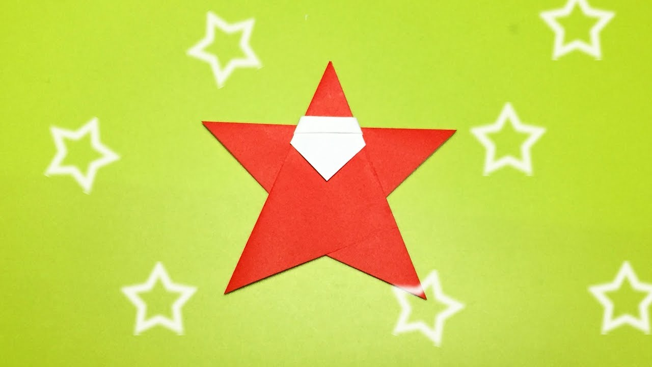 Christmas origami santa claus very easy and cute how to
