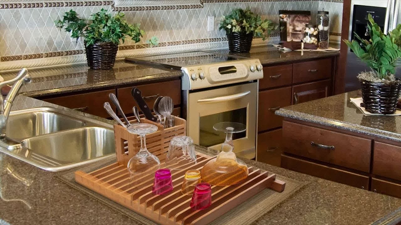 Bamboo Over The Sink Kitchen Dish Drainer Drying Rack With Removable