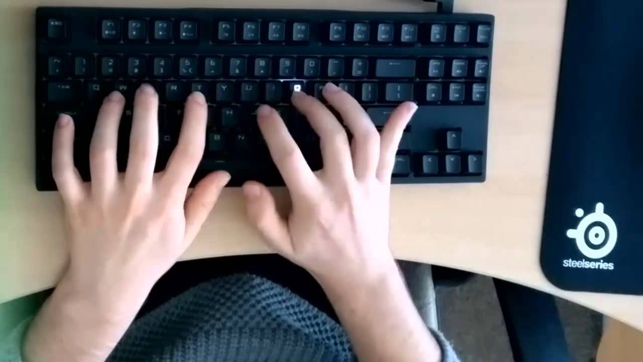 What typing fast looks like (141 WPM / ~12 keys per second)