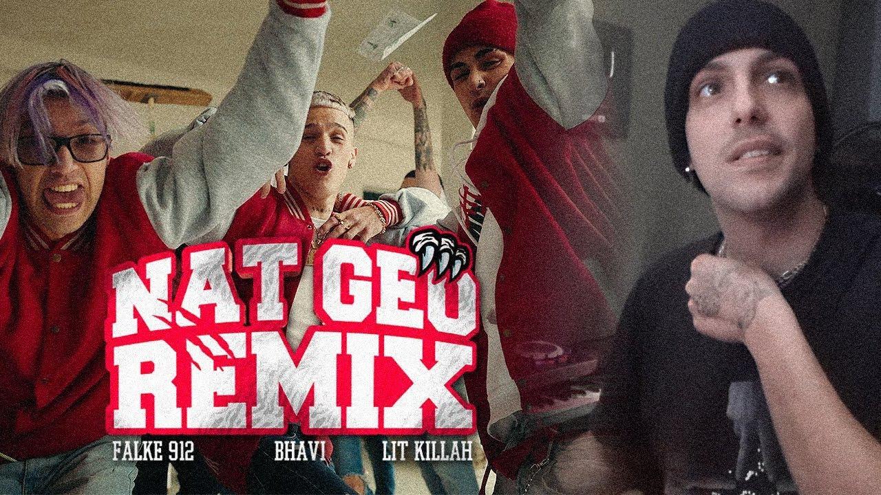 (REACCION) Falke 912, Bhavi Ft. LIT Killah - Nat Geo Remix [Video Oficial]