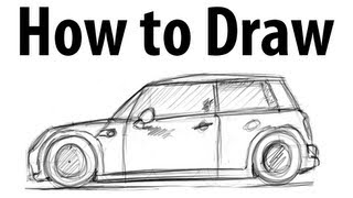 How to draw a MINI Cooper - Sketch it quick!