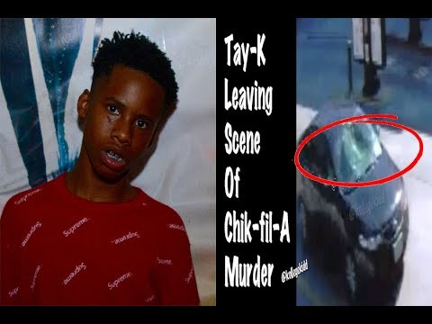 NEW Tay K Surveillance Footage Leaving Murder Scene
