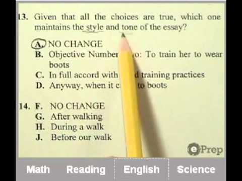 ACT Practice Test | Video Answers | Online | ePrep