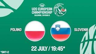 LIVE 🔴 - Poland v Slovenia - Final - FIBA U20 European Championship Division B 2018