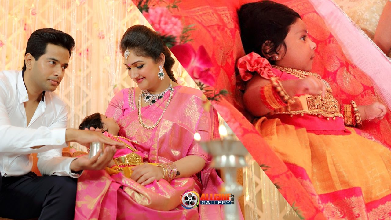 Sridevi Vijayakumar Cleavage: Sridevi Vijayakumar Baby Daughter Rupikaa Photos