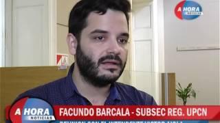 FACUNDO BARCALA   SUBSECRETARIO REGIONAL DEL UPCN   REUNION CON EL INTENDENTE VICTOR AIOLA avi