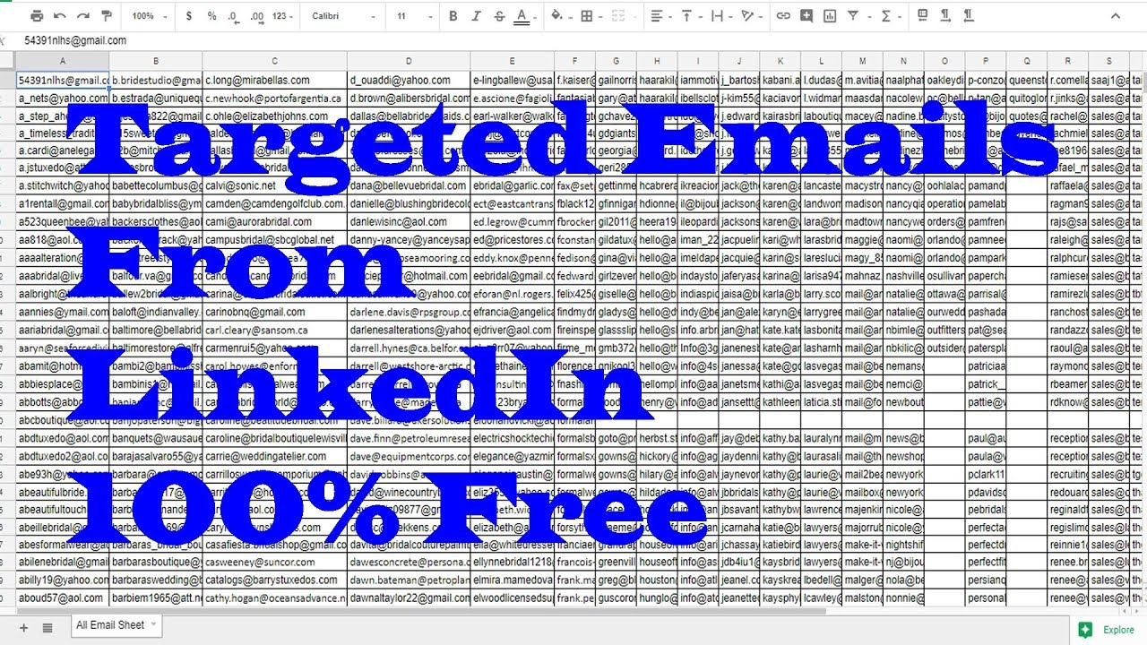 How to Extract Emails from LinkedIn | How to Scrape Emails from Web |  Extract millions email in min