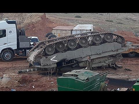 Israel Merkava Tank Moment Overturned