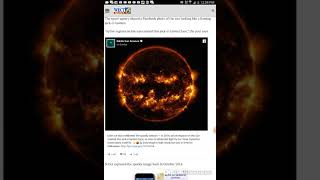Nasa Picture Of The Sun On Facebook, Updated This Year At 2:24