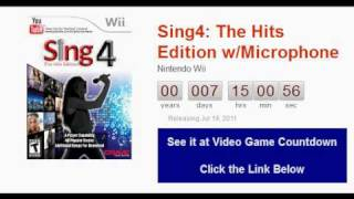 Sing4 The Hits Edition with Microphone Wii Countdown