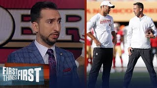 Kyle Shanahan does not have full faith in Jimmy Garoppolo — Nick Wright | NFL | FIRST THINGS FIRST