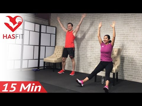 15 Min Exercise for Seniors, Elderly, Older People - Seated Chair Exercise - Senior Workout Routines