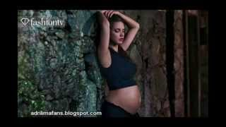 Pregnant Adriana Lima models the miracle of the life for Pirelli thumbnail