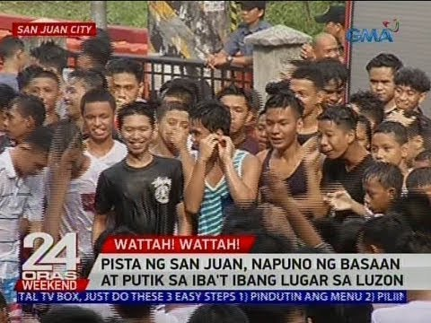 24 Oras: Pista ng San Juan, napuno ng basaan at putik sa iba't ibang lugar sa Luzon