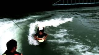 海の波が無い時はウェイクサーフィン! 気になる方は宮崎県 美郷町 石峠...