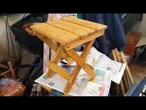 видео: Раскладной стул своими руками. Продолжение. homemade folding chair. continued.