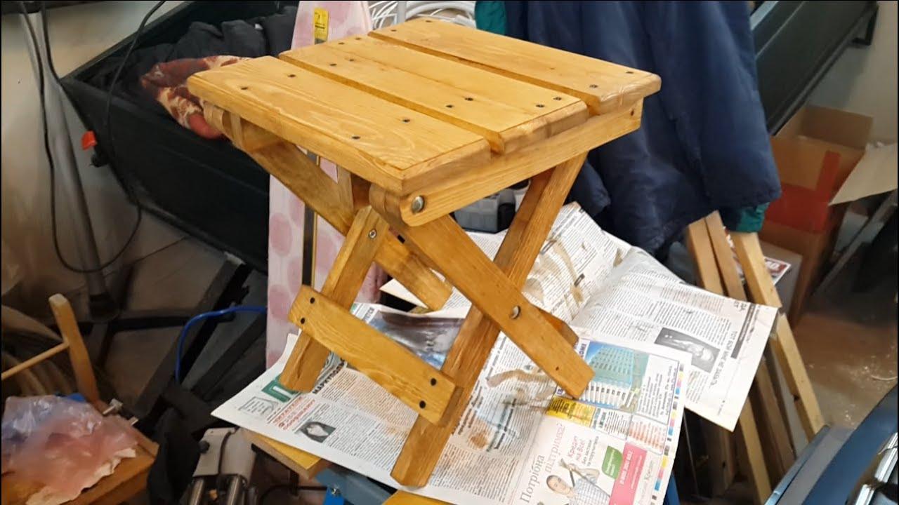 Как сделать своими руками складной стул