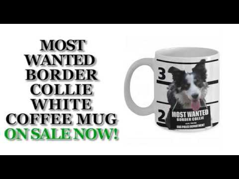 Most Wanted Border Collie – 11oz White Ceramic Coffee Mug