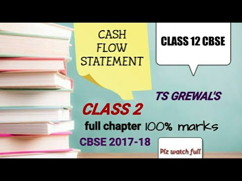 ACCOUNTS CLASS 12- CASH FLOW STATEMENT (FULL CHAPTER) CBSE -TS GREWAL. CLASS NO. 2|