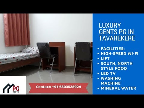 PG in Bangalore | Gents PG in Tavarekere | PG Accommodation | PG Near Me