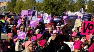 National Womens March held in Las Vegas