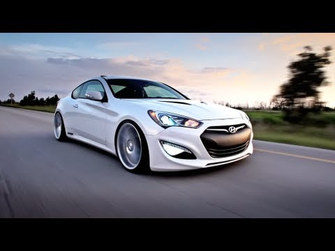 hyundai genesis bagged on 20quot vossen cv4 concave wheels