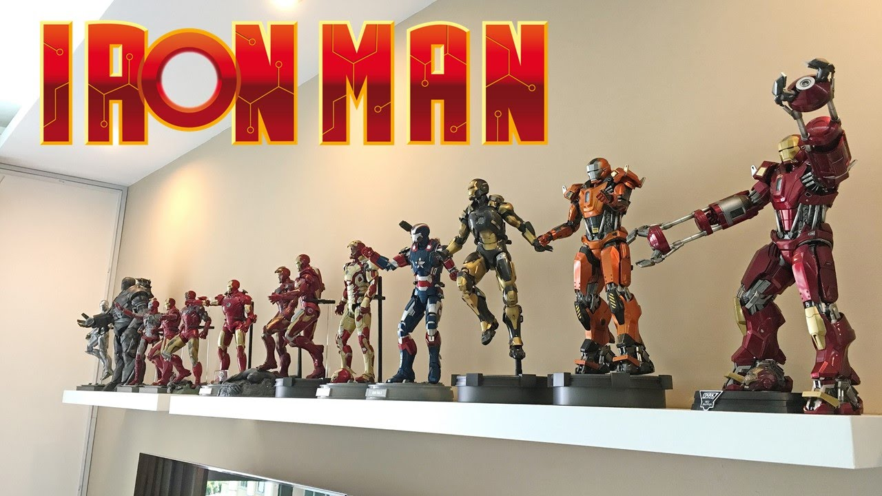hot toys iron man collection i ii iii avengers i ii. Black Bedroom Furniture Sets. Home Design Ideas
