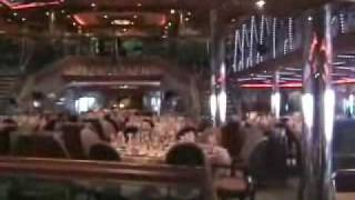 Carnival Conquest Dining Room And Promenade Deck Areas