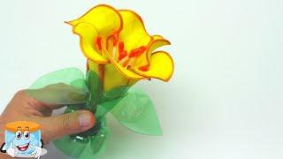 Как Сделать Своими Руками Чудесный Цветок из Фоамирана и Пластиковых Бутылок