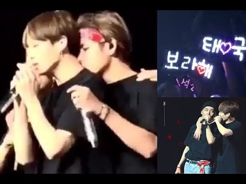 More kisses and tensions on stage (taekook kookv analysis)