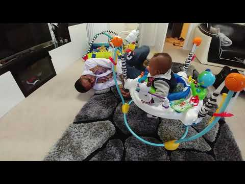 Adorable baby dad moments in babyeinstein Journey of Discovery Jumper