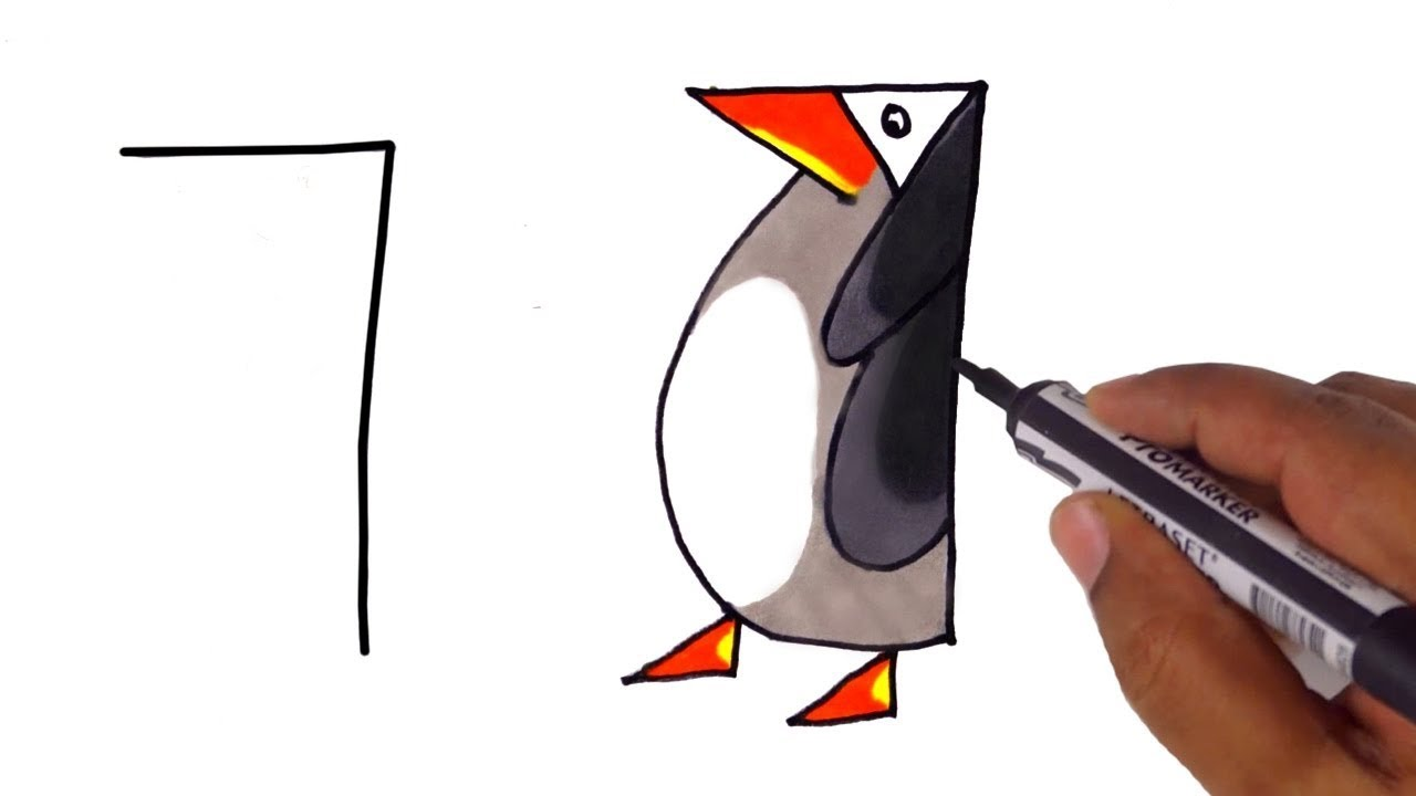 10 Drawings From Numbers For Kids Youtube