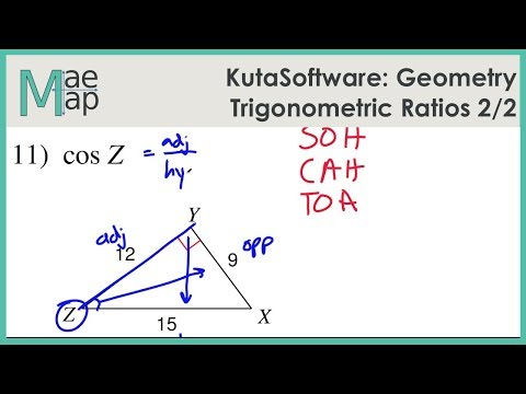 KutaSoftware: Geometry- Trigonometric Ratios Part 2