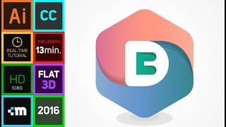 Adobe Illustrator CC | HD | Düz 3D Düz 3D Logo Tasarımı oluşturma