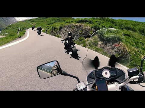 [RAW] chasing a girl on a bobber!! Furka Pass. Versys 650