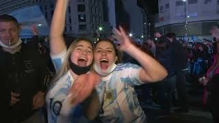 🎉🇦🇷🏆Thousands took to stręets in Buenos Aires as Argentina beat Brazil in Copa America final 阿根廷 美洲杯