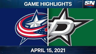 NHL Game Highlights | Blue Jackets vs. Stars - Apr. 15, 2021