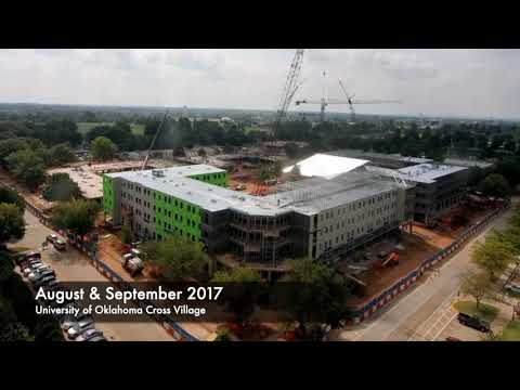 OU Cross Village: 17 Months of construction in 40 seconds