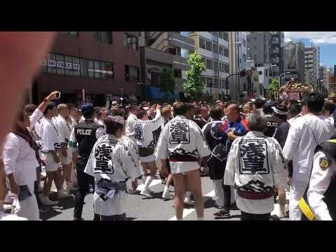 【大乱闘】平成30年三社祭 本社神輿 西浅三北 大乱闘!1