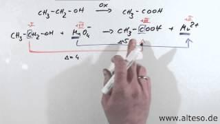 Übung Redoxreaktionen - Oxidation von Ethanol [Variante A]