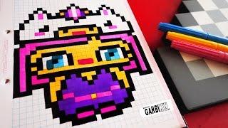 Handmade Pixel Art - How To Draw Kawaii Unicorn Girl #pixelart