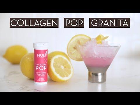 Rose + Lemon Collagen Pop Granita Recipe}