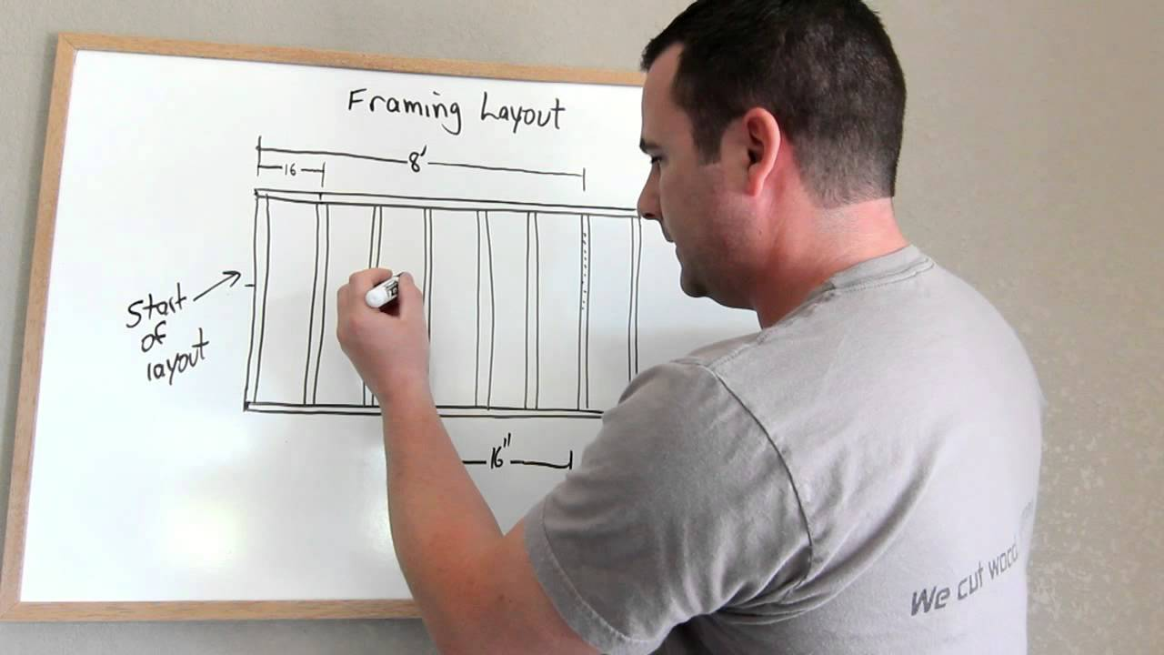 Framing Tip and an Introduction to Stud Layout - YouTube
