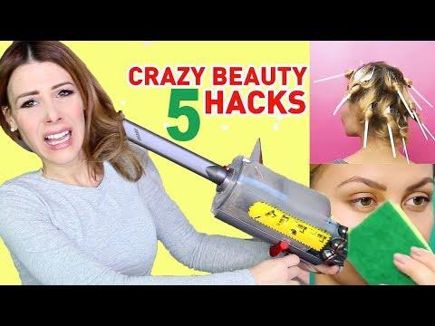 COSE DA MATTI !!! Ho testato HACKS PAZZI per TRASFORMARE oggetti CASALINGHI in prodotti BEAUTY !!!